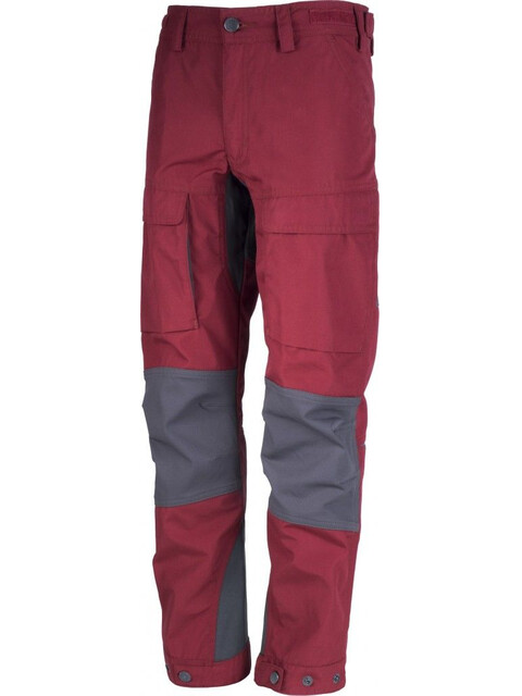 Lundhags Authentic Pants Junior Dark Red/Charcoal